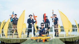 LTT Nerf War : SEAL X Warriors Nerf Guns Fight Criminal Group Dr Mundo Intrusion Steal Weapons