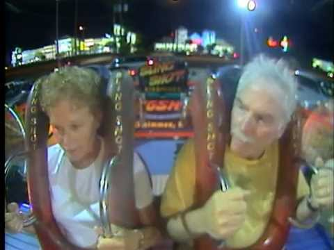 OLD PEOPLE!!! Hilarious Ride on the Slingshot Kissimmee, Florida