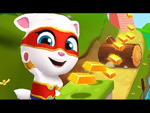 Talking Tom - Carrera de SUPER ANGELA - El Gato Tom y sus Amigos