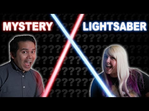 Unboxing mystery box lightsabers! Mystery boxes from Ultra Sabers
