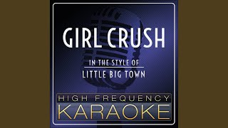 Girl Crush Karaoke Version
