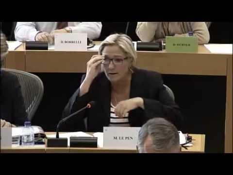 Question de Marine Le Pen à l'ambassadeur américain près de l'UE au Parlement Européen