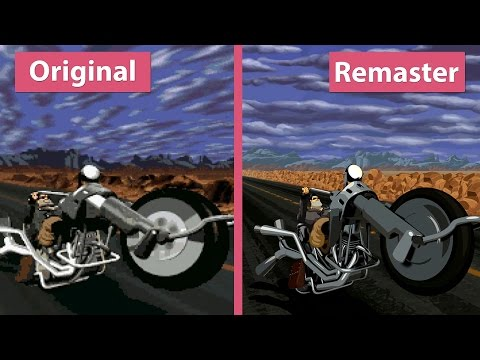 4K Full Throttle – Original DOS (1995) vs. Remastered (2017) Graphics Comparison