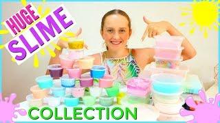 HUGE SLIME COLLECTION 2017 -  Slime Haul and DIY Slime Storage Ideas
