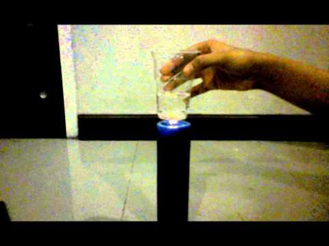 Percobaan Membakar Gelas Plastik - Indani Durrotul Aini