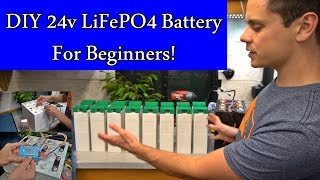 DIY 24v LiFePO4 Solar Battery Bank! Beginner Friendly, 2.4 kWh, Cheap, Full Tutorial!
