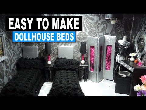 How to Make Doll a Doll Bed for Monster High. Barbie and Bratz dolls