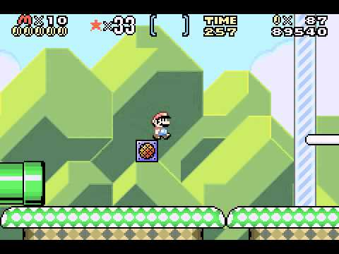 Super Mario Advance 2 - Super Mario World - Super Mario World (GBA) - World 1 - User video