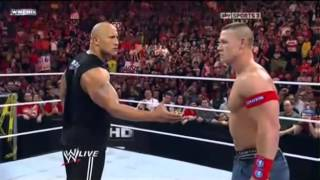 The Corre Attack John Cena and The Rock