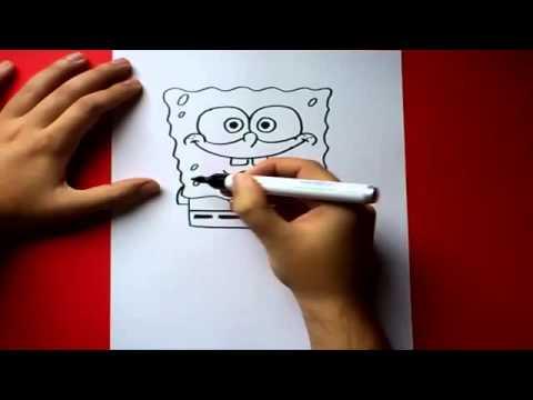 كيفية رسم سبونج بوب
