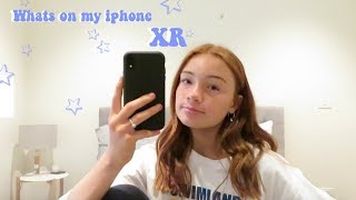 WHATS ON MY IPHONE XR !!