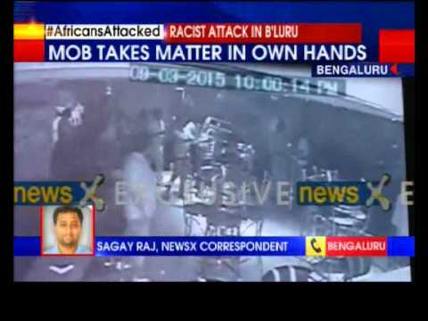 Newsx Exclusive: Mob Chased And Attack Africans In Bangalore video