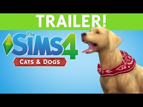 SIMS 4 CATS & DOGS - TRAILER REACTION!!