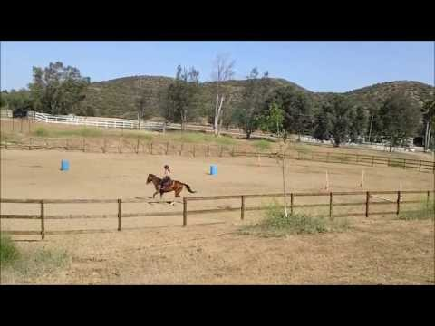 Riding in the Arena at Oak Meadows Ranch in Wildomar, California