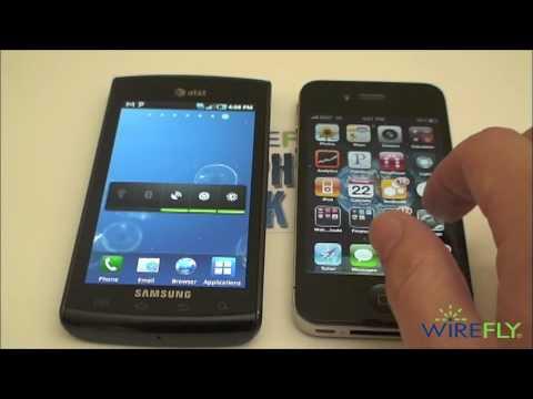 Apple iPhone 4 vs. Samsung Captivate