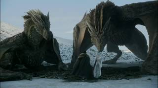 Jon Snow rides dragon for the first time || Game of thrones Season 8 episode 1 clip || HD
