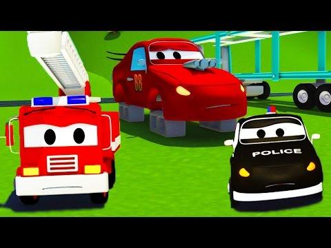 The Car Patrol in Car City: Jerry's tires were stolen | Cartoon for children