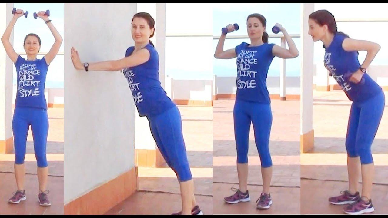 ejercicios para adelgazar los brazos: