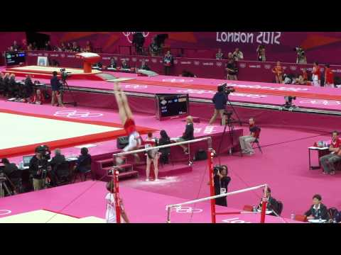 Victoria Komova Olympics 2012 Qualification Uneven Bars UB
