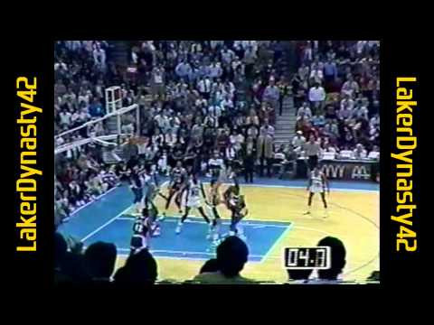 David Robinson 1990: 23pts, 16rebs & 10blks vs. LA Lakers