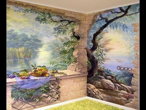 Модная тенденция Фреска Трафарет для декора стен