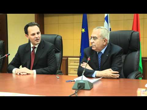 Greek FM Mr. Dimitris Droutsas with PM of Palestinian Authority Mr. Salam Fayyad (18.10.2010)
