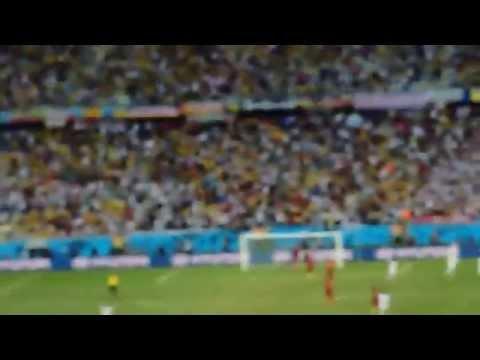 Brazil World Cup 2014-Germany -Ghana 2-2 - Mario Götze breaks the lock with a header 1-0!
