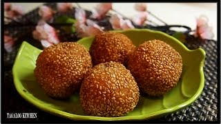 Sesame Seeds Ball (Pinoy Butse Style) by Luweeh's Tagalog Kitchen