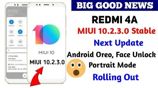 MIUI 10.2.3.0 NCCMIXM For Redmi 4A Rolling Out