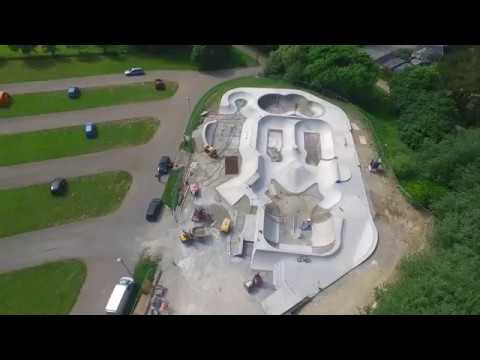 Newquay Concrete Waves - Build in progress