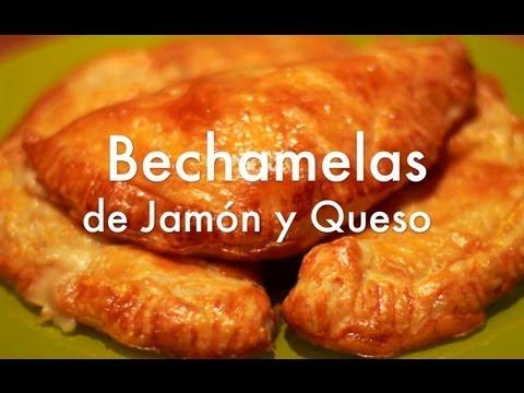 Empanadillas de hojaldre rellenas de bechamel ( Bechamelas ) - Recetas de aperitivos fáciles