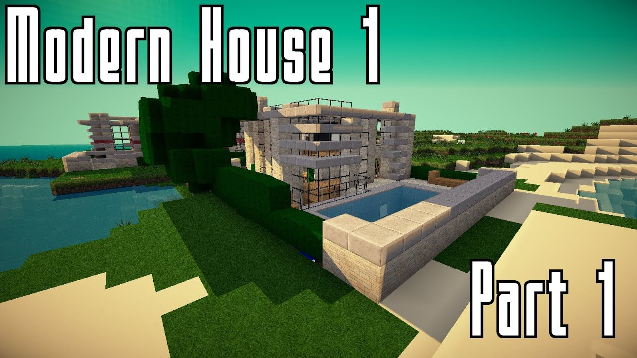 Minecraft modernes haus bauen part 1 youtube
