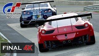4K Gameplay - Gran Turismo Sport Nordschleife - Ferrari 458 GT3 Onboard [Mission Challenge]