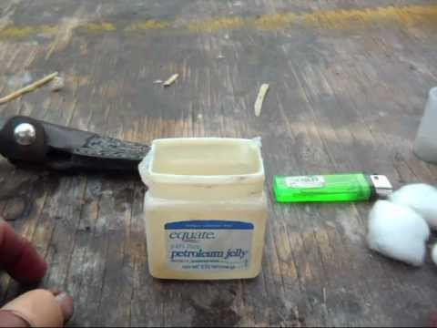 Making Petroleum Jelly Soaked Cotton Ball Fire Starters