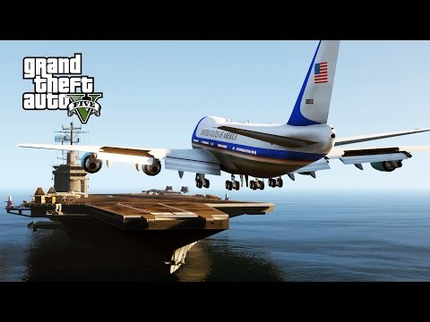 GTA 5 Mods - Air Force One Landing On Aircraft Car.mp3