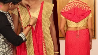 How to Wear a Double Style Saree | Unique and Innovative Saree Draping Style