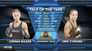Fight of the Week: Jorina Baars Goes to War With Cris Cyborg at Lion Fight