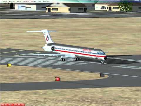 American Airlines MD-80 Flight Simulator FSX departs Orange County Airport Santa Ana CA