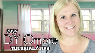 Ombre Wall DIY: How to Paint an Ombre Accent Wall (Tutorial, Tips & Tricks)