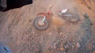Honda CRF 250 Big Hill Crash