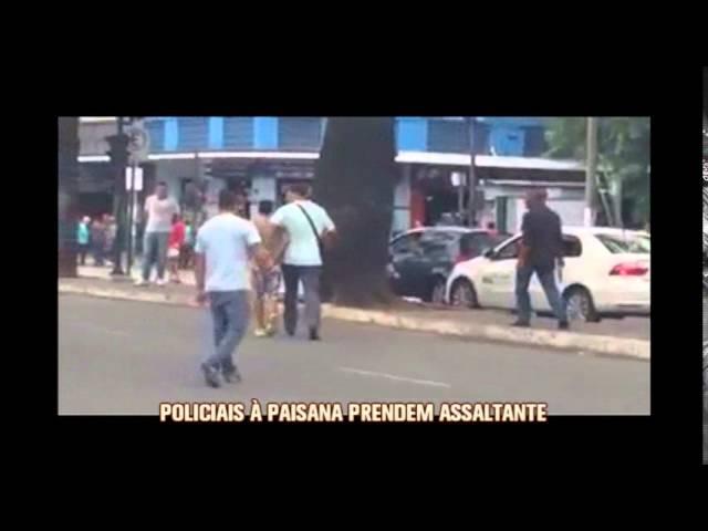 Policia à paisana agarra assaltante no centro de Belo Horizonte.