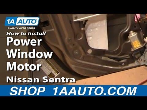 How To Install Replace Power Window Motor or Regulator Nissan Sentra 00-06 1AAuto.com