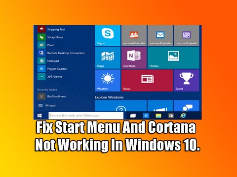 errore start e cortana windows 10