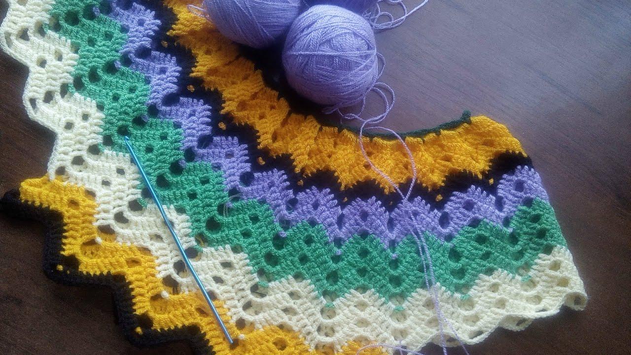 Вязание платья лужок 1 часть 15