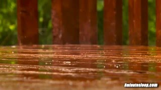 Rain On Deck | Sleep, Study or Focus With Calming Rainstorm Nature Video | White Noise 10 Hours