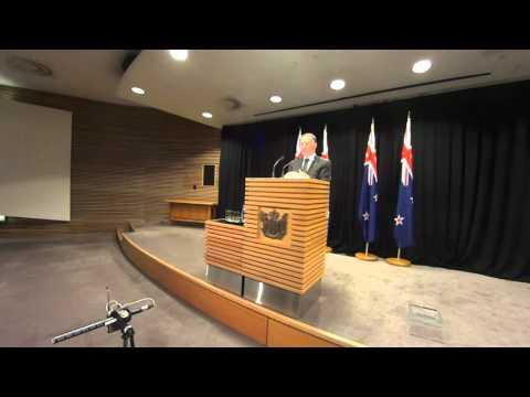 NZ PM John Key Post-Cabinet Press Conference 9/11/15