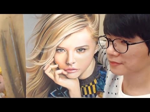 Pastel Drawing - Chloe Grace Moretz 클로이 모레츠