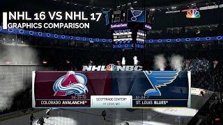 NHL 16 Vs NHL 17 Graphics Comparison | PS4