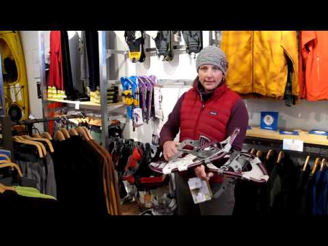 Bob Webster learning about Snow Shoes from Clear Water Outdoor in Lake Geneva, WI