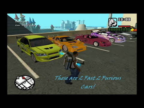 Fast And Furious Cars In Grand Theft Auto San Andreas! video